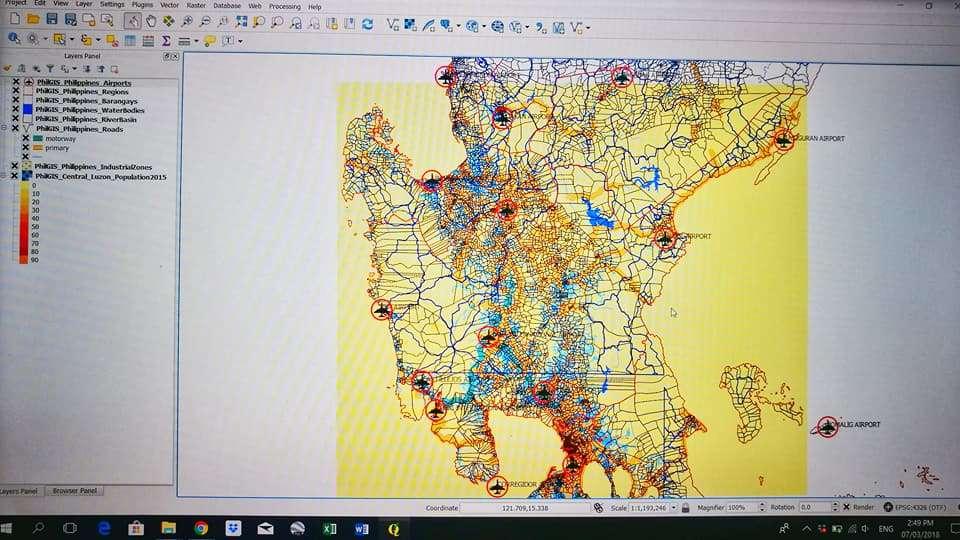 Quantum Geographic Information System
