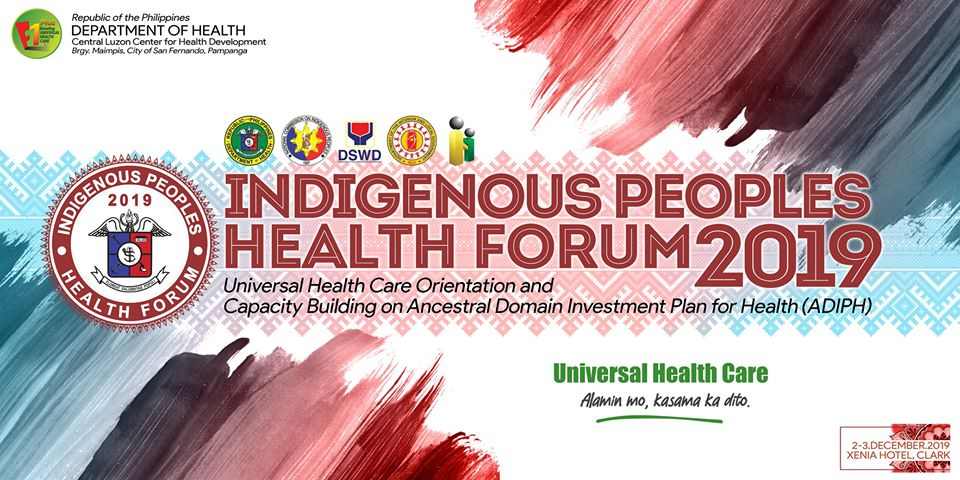 Day 1 of the Central Luzon Indigenous Peoples Health Forum 2019